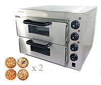 Печь для пиццы электрическая 4+4х20см GoodFood PO2