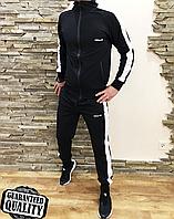 Спортивный костюм Adidas лампас черный в Украине. Сравнить цены ... b126fee76a7f8