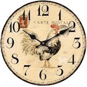 Часы настенные «Петух», круглые, 29 см, МДФ
