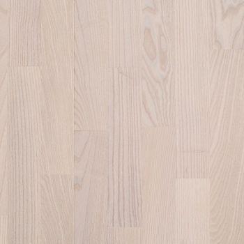 Паркетная доска BEFAG Ясень Натур KIEV, жемчужно-белый лак  564364