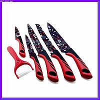Набор ножей с овощерезкой UNIQUE UN-1806 5+1