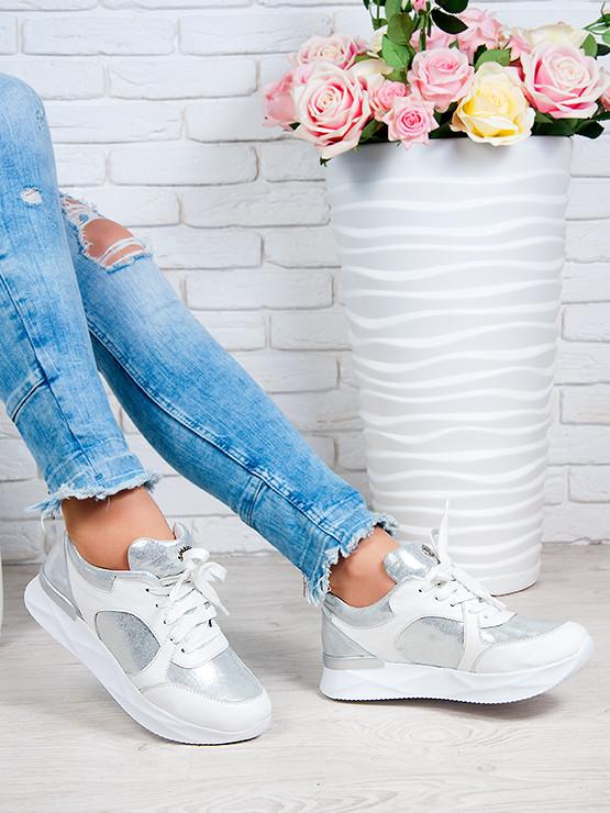 Кросівки ALIKA білий + срібло 6250-28
