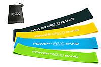 Резинка для фитнеса и спорта (лента-эспандер) эластичная 4FIZJO Mini Power Band 4 шт 4FJ1042