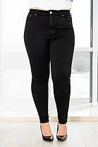 Черные стрейчевые джинсы классика, фото 3