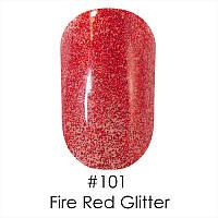 Гель-лак Naomi (Наоми) 12 мл №101 красные насыщенные блестки
