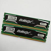 Комплект оперативной памяти Crucial Ballistix DDR3 8Gb (4Gb+4Gb) 1333MHz 10600U CL9 (BL51264BA1339.16FD) Б/У, фото 1