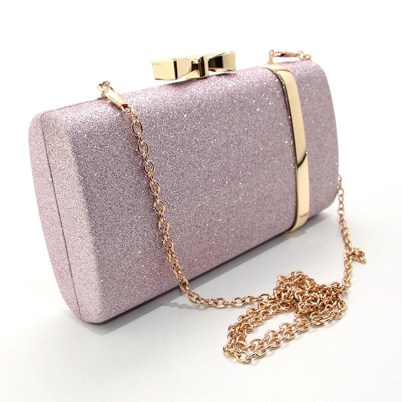 463f9ee2c542 Фиолетовая вечерняя сумочка jx-3017 pur клатч-бокс с блестками на цепочке,  фото