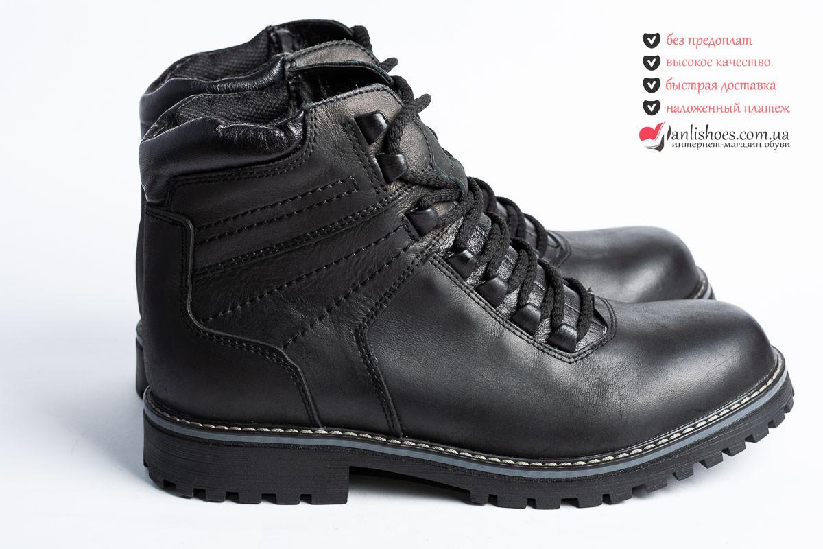 50b539e6b ♚Ботинки зимние мужские 40р, из натуральной кожи. На шнурках. Мужские  ботинки зима