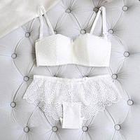 Комплект нижньої білизни 70B (32B) white, набір жіночої білизни, фото 1