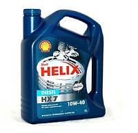 Моторное масло Shell Helix HX7 Diesel 10W40 4л