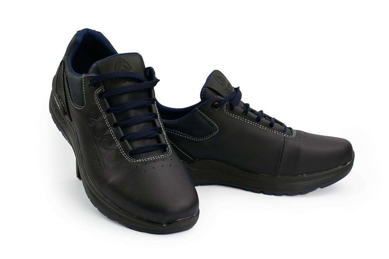 f79371d7a Мужские кожаные зимние ботинки Ecco Синие 038W-M1_sin р. 41 43 ...