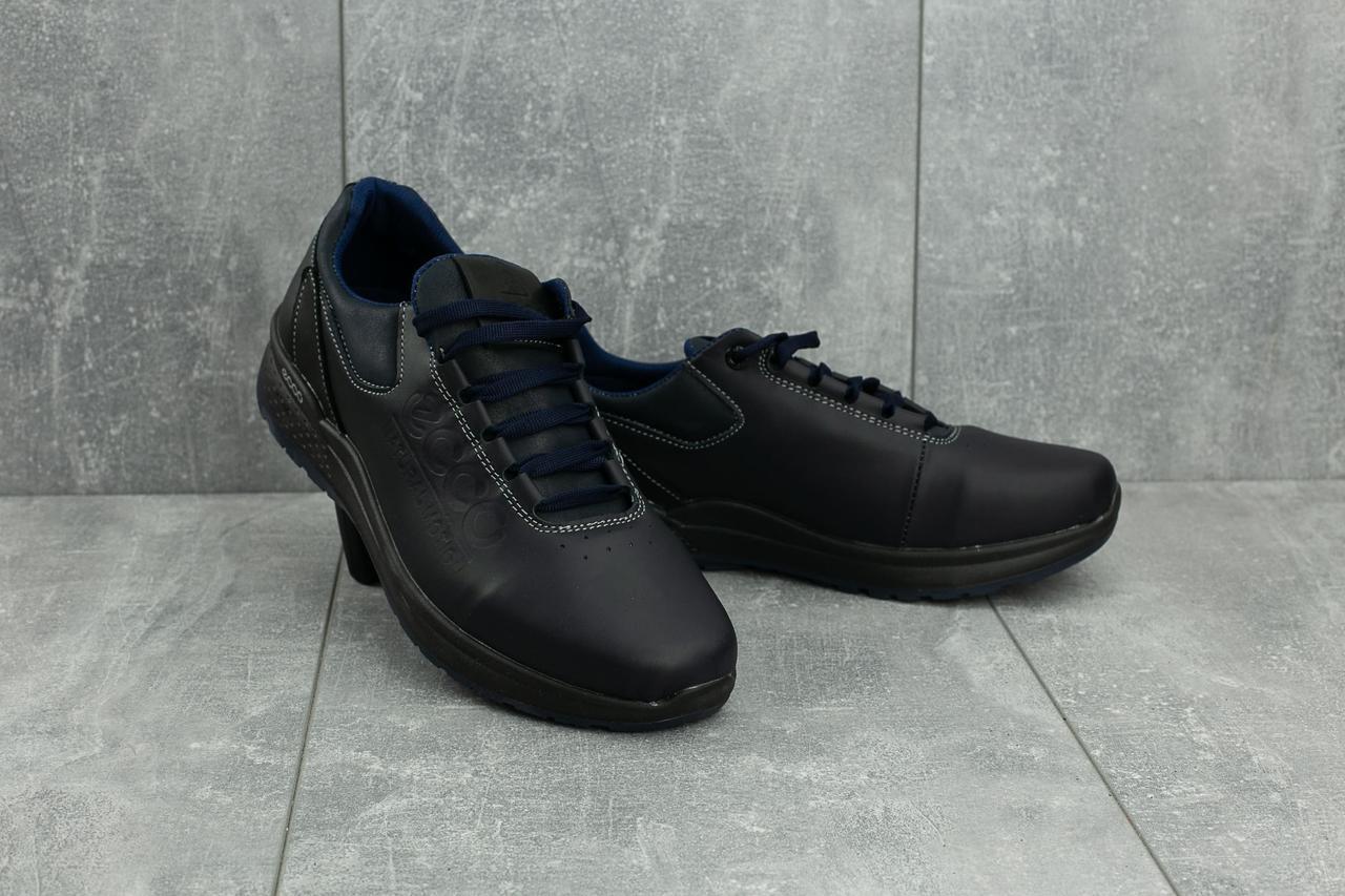 945556fb1 Мужские кожаные зимние ботинки Ecco Синие 038W-M1_sin р. 41 43, фото 2 ...