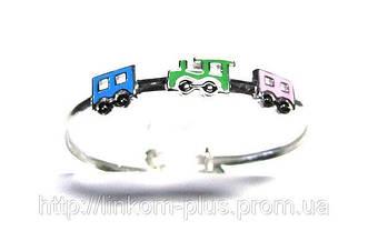 Браслеты серебряные с эмалью для детей/Браслети срібні з емаллю для дітей