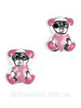 Серьги серебряные с эмалью для детей/Сережки срібні з емаллю для дітей