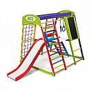 Акция! Деревянный детский Спортивный комплекс для малышей для дома Спортбейби  «ЮнгаPlus 3», фото 7