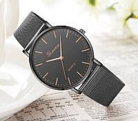 Черные женские часы Geneva. Лучший выбор!