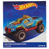 Пластилин восковой Kite Hot Wheels HW19-1086, 12 цветов, 240 г