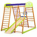 Акция! Деревянный Детский спортивный комплекс для квартиры для малышей «Карамелька мини» Спортбейби SportBaby, фото 5