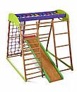 Акция! Деревянный Детский спортивный комплекс для квартиры для малышей «Карамелька мини» Спортбейби SportBaby, фото 8