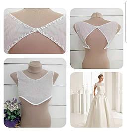 Свадебное болеро майка эвро сетка под платье для невесты Z№1