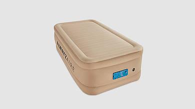 Велюровая кровать BESTWAY со встроенным насосом. В наборе сумка и ремкоплект