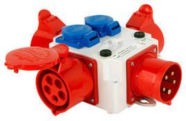 Разветвитель 32A 3P+N+Z 400V/ 3x32A 3P+N+Z 400V, 2x10A 2P+Z 250V E.NEXT (408-032)