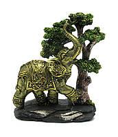 Слон под деревом (21,5х18х8,5 см)(w60145)