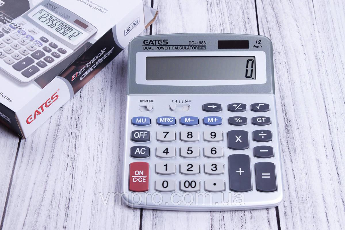 Калькулятор EATES DC-1988,12 розрядний, 2 види харчування, калькулятори електронні