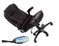 Кресло офисное массаж Veroni черное