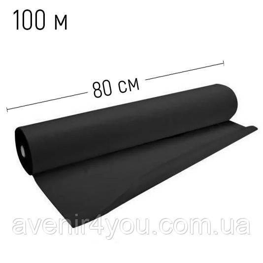 Простынь одноразовая 0.8x100 метров Polix PRO&MED Black tatoo, Черная 30 г/м.кв