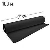 Простынь одноразовая 0.8x100 метров Polix PRO&MED Black tatoo, Черная 30 г/м.кв, фото 1