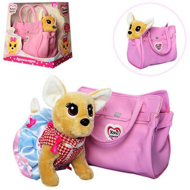 Собачка в сумочке Кикки (аналог Chi Chi Love) M 3641-N-UA сумка, звук укр. яз.
