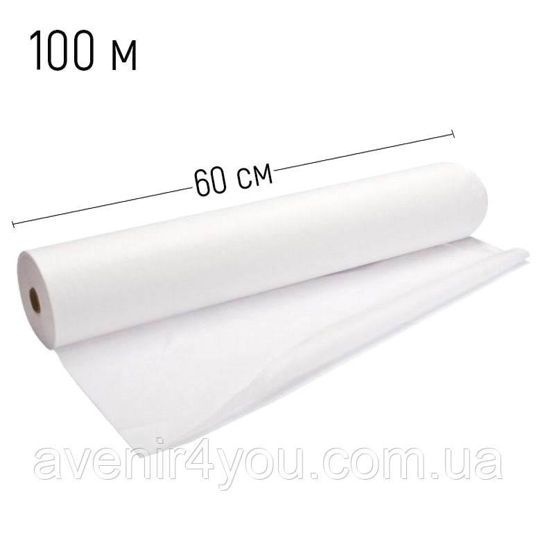Простынь одноразовая 0,6х100 метров, (плотность 20г/м) Белая