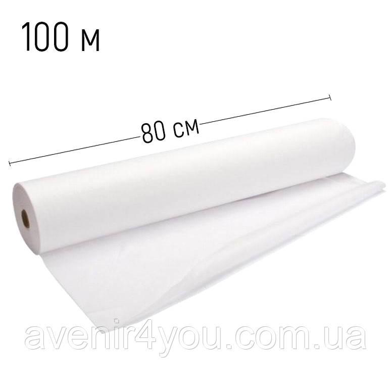 Простынь одноразовая 0,8х100 метров (плотность 20г/м) Белая