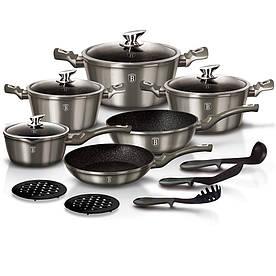 Кованый Набор посуды Berlinger house BH 1223N Metallic Line 15 предметов (BH-1223N)