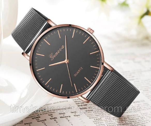 Женские часы Geneva черные. Стиль и качество!