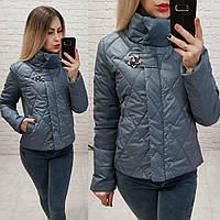 Куртка демисезон, модель 502, цвет - серый