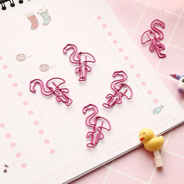 Скрепки в форме Фламинго