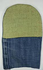 Перчатки х / б с брезен. наладонником джинсовая ткань СП-35