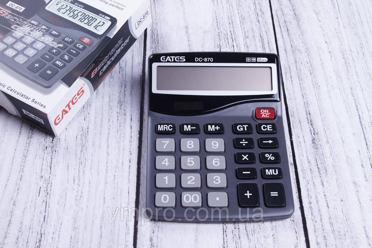 Калькулятор EATES DC-870,12 разрядный, 2 вида питания, калькуляторы электронные