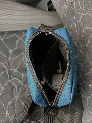 Мужская барсетка Nike ( синий меланж  ), фото 2