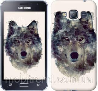 Чехол на Samsung Galaxy J1 (2016) Duos J120H Волк-арт