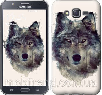 Чехол на Samsung Galaxy J7 J700H Волк-арт