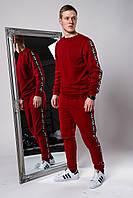 Спортивный костюм мужской, свитшот и спортивные штаны Фила с лампасами, цвет красный