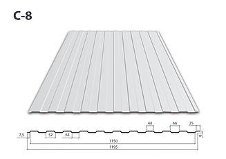Профнастил С-8 Цинк (0.3 мм)