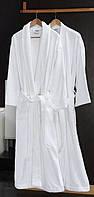 Халат  махровый белый р.L, р.XL (шаль),пл.380г/м2,Турция VIP