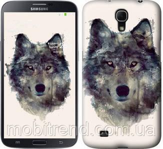 Чехол на Samsung Galaxy Mega 6.3 i9200 Волк-арт