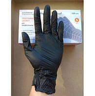 Черные нитриловые перчатки Престиж Медикал без пудры (Black) XS, S, M, L, пара/ 50