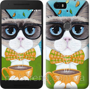 Чехол на Huawei Nexus 6P Cat&Coffee