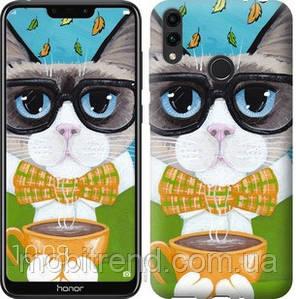 Чехол на Huawei Honor 8C Cat&Coffee